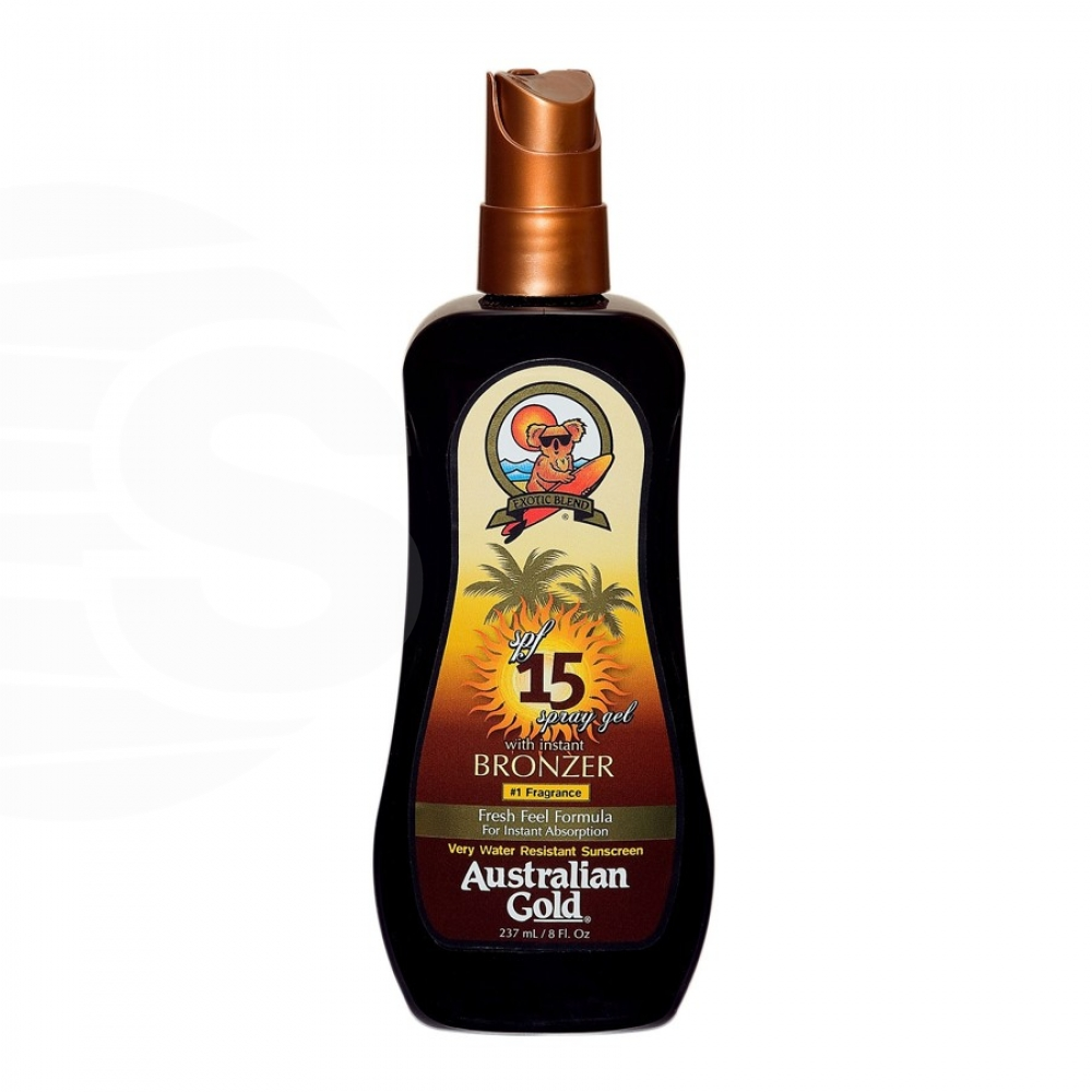 Australian Gold - SPF 15 Spray Gel W/Bronzer