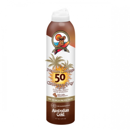 Australian Gold Premium Copertura SPF 50 Cont Spray W/Bronzo