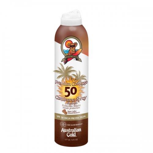 Australian Gold - Premium Coverage SPF 30 Cont Spray W/Bronze - Sunscreens - Australian