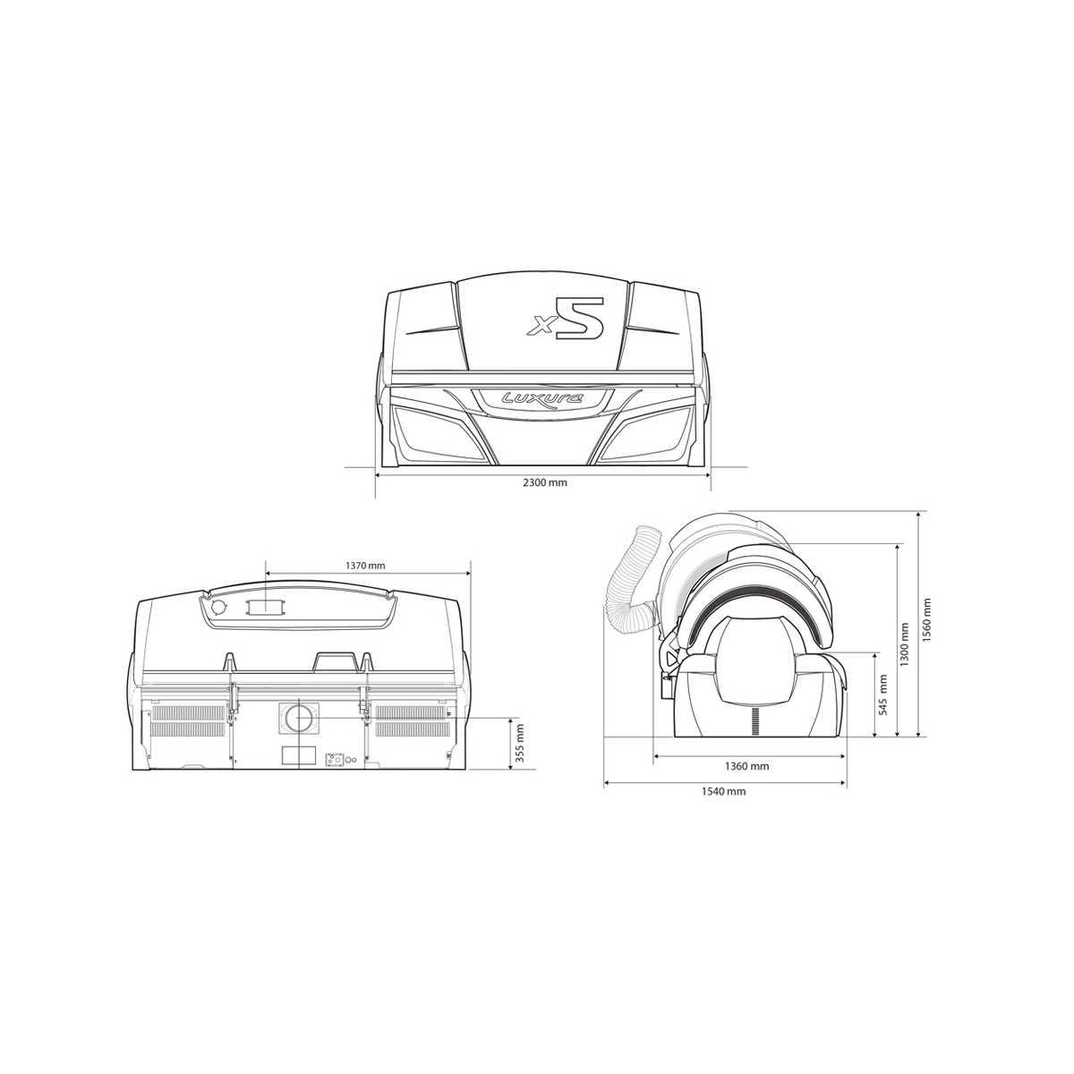 Hapro Luxura X5 34 SLI - Lettini Abbronzanti Luxura - Luxura