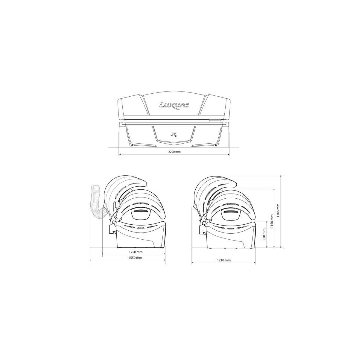 Hapro Luxura X3 30 SLI - Lettini Abbronzanti Luxura - Luxura