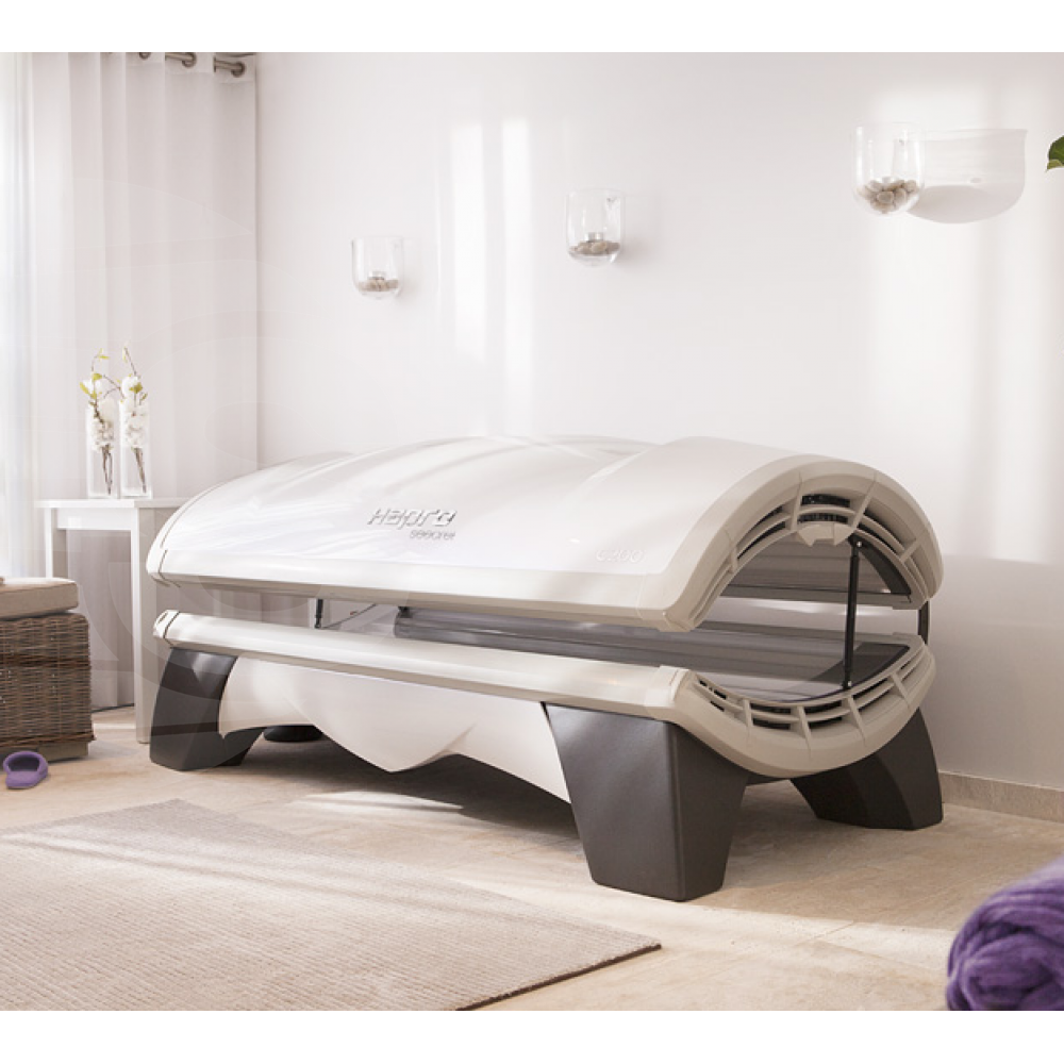 Hapro Proline 28/1 C White Pearl - Solarium horizontal - Home Tanning - Hapro