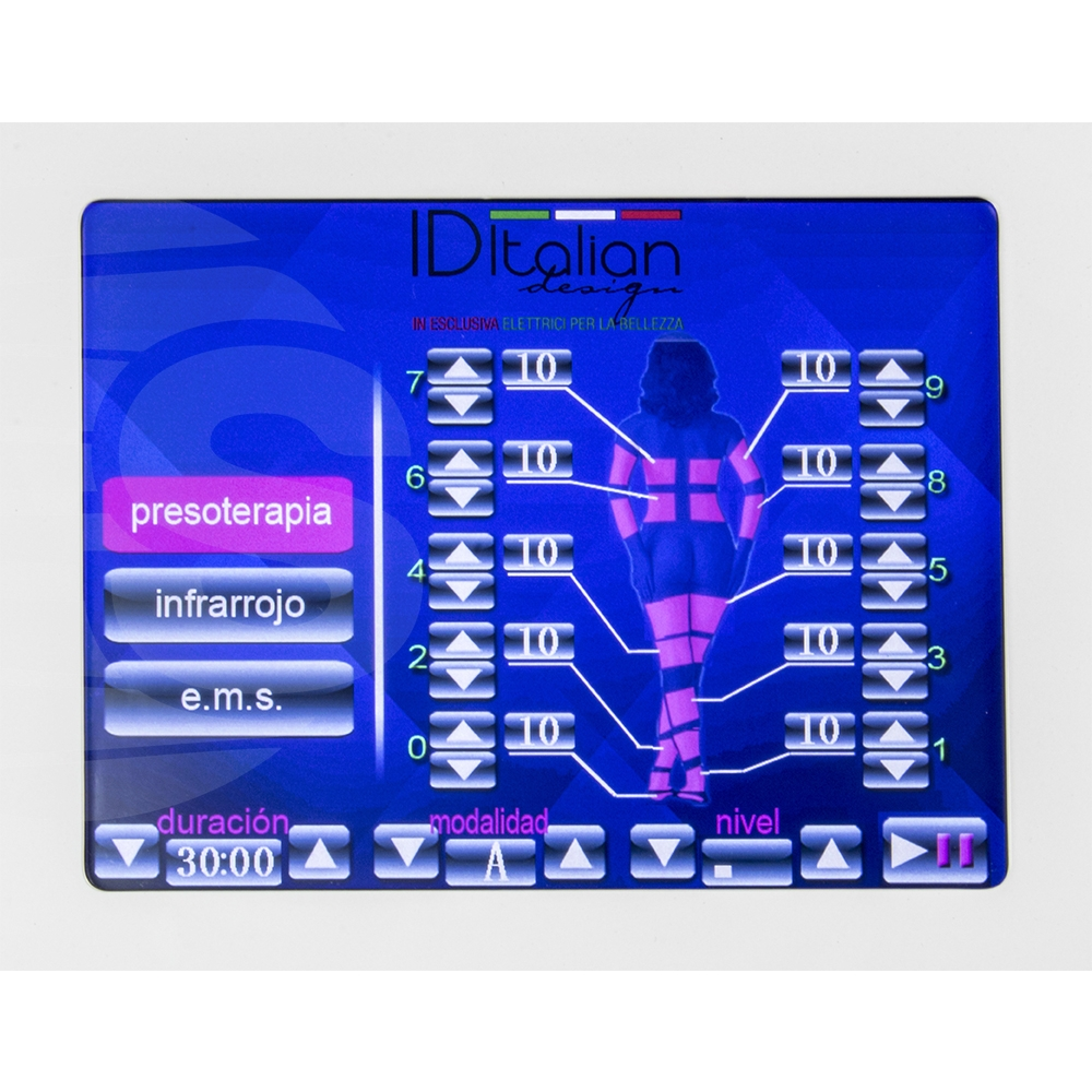 Pressotherapy 3 in 1 Digital Premium with Electroestimulacion and Sauna V. 3.0 -