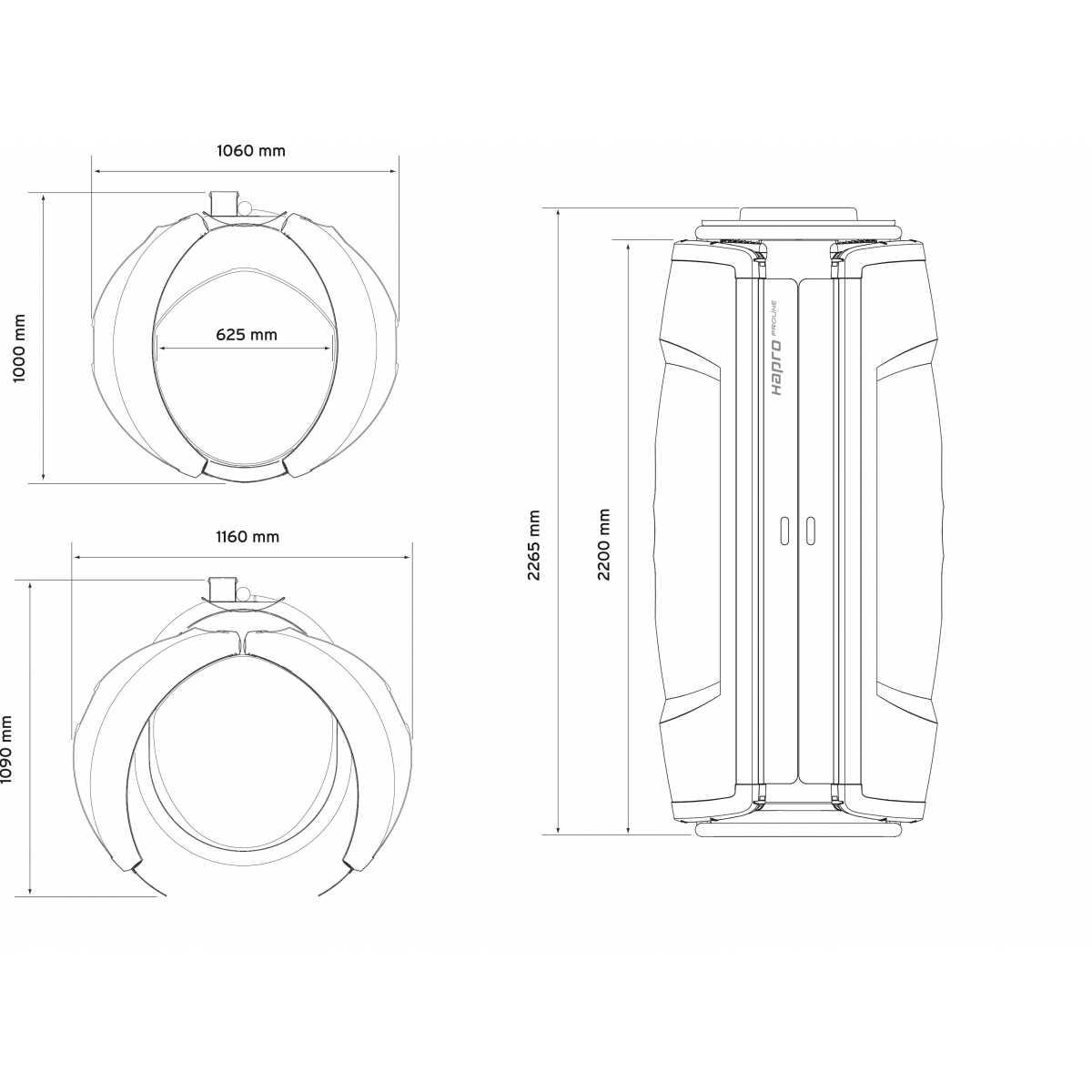 Hapro Proline 28 V Intensive White Special - Solarium vertical - Home Tanning - Hapro