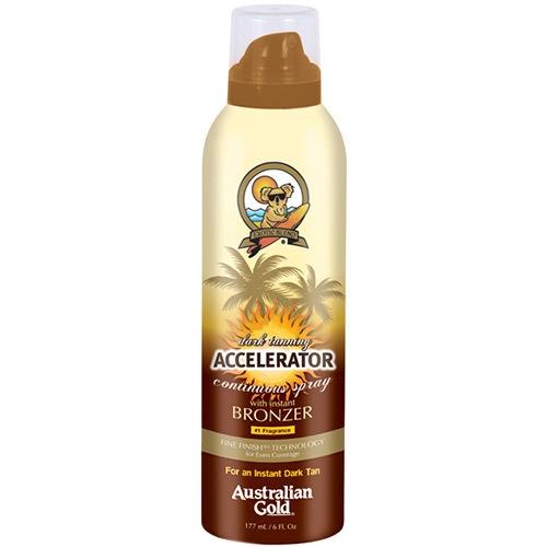 Accelerator Dark Tanning Cont. spray w/bronzer - Sunscreens - Australian Gold