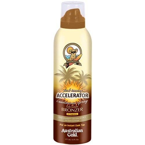 Dark tanning Accelerator Cont Spray w/bronzer