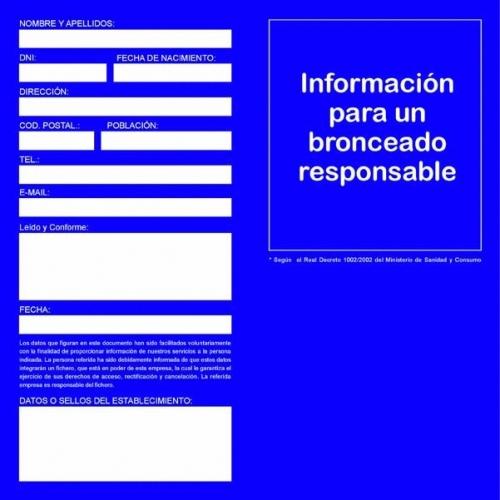 Consentimiento informado RD1002/2002 - Consumibles y accesorios - Sunmarket