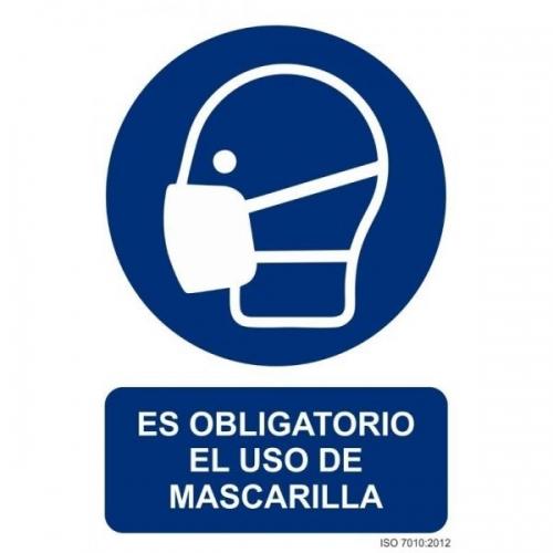 Señal es obligatorio el uso de mascarilla 30x40 cm